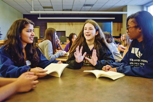 The WILL reading group. Courtesy of the Commercial Dispatch.