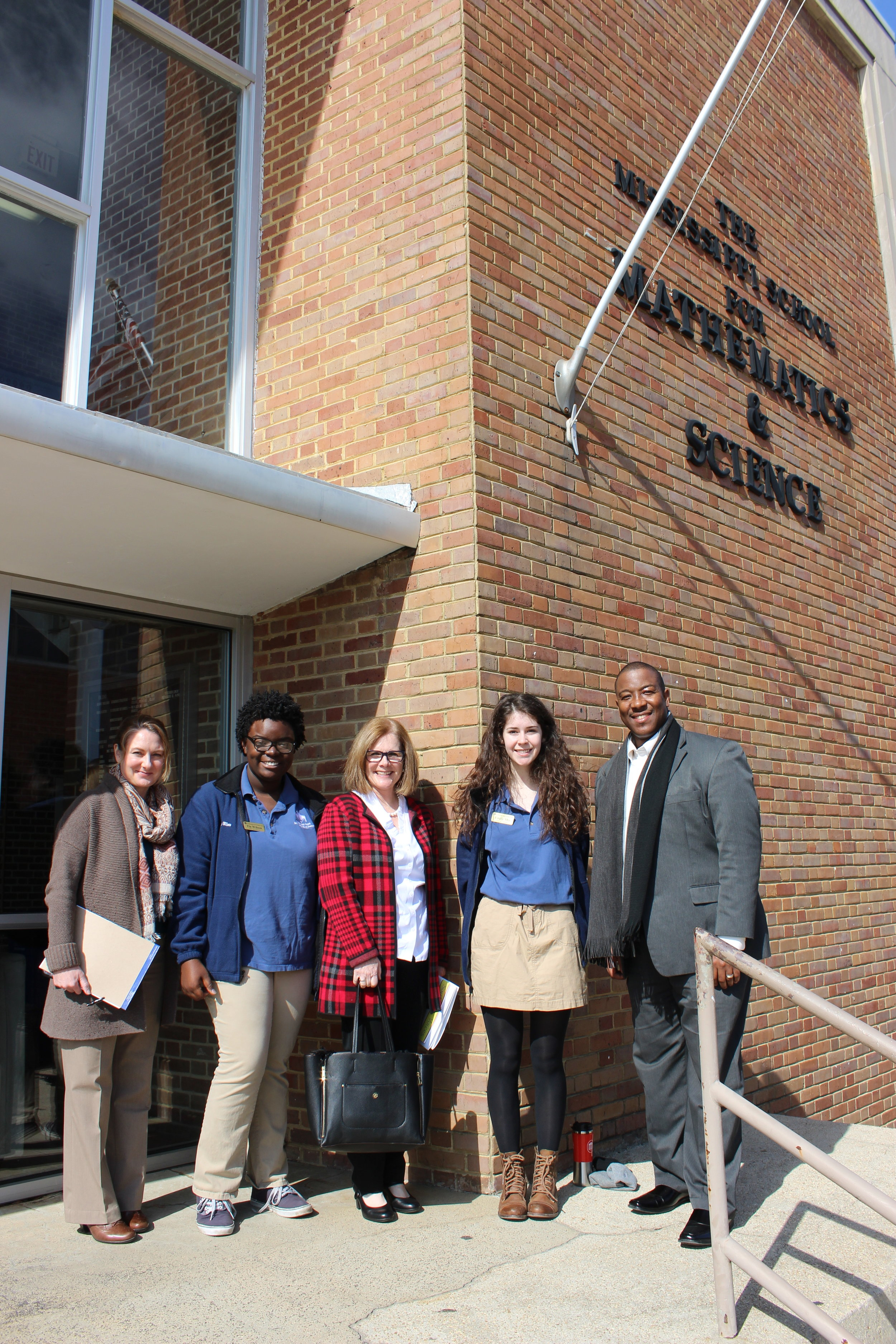 From left: Dr. Heather Hanna, Tia Wilson, Kim Richardson, Emily Shy, and Dr. Germain McConnell.