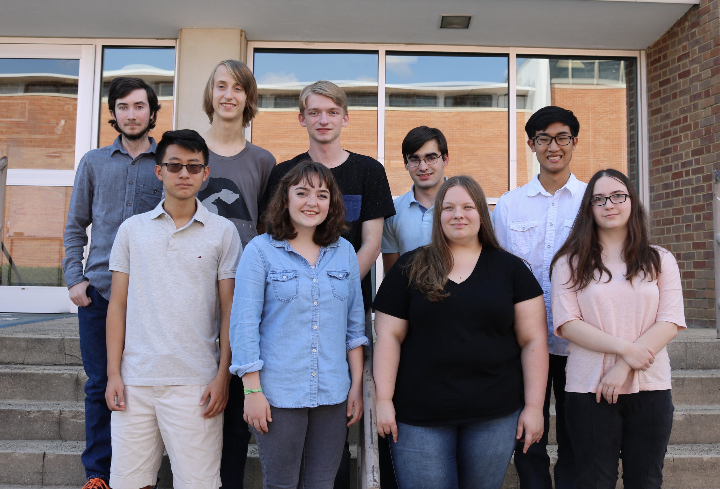 Pictured are the 2017 National Merit Semifinalists with the exceptions of Vivienne Tenev, Leah Pettit, and Jim Zhang.