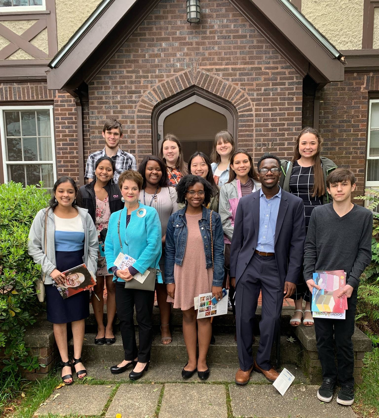 Pictured are Landon Alexander, Ryley Fallon, Victoria Miller, Likhitha Polepalli, Jessikah Morton, Victoria Gong, River Gordon, Madison Wypyski, Indu Nandula, Mrs.Emma Richardson, Aja Ceesay, Morgan Emokpae, and Christian Couvillion. Not pictured: Chylar Gibson and Sarah Perry.