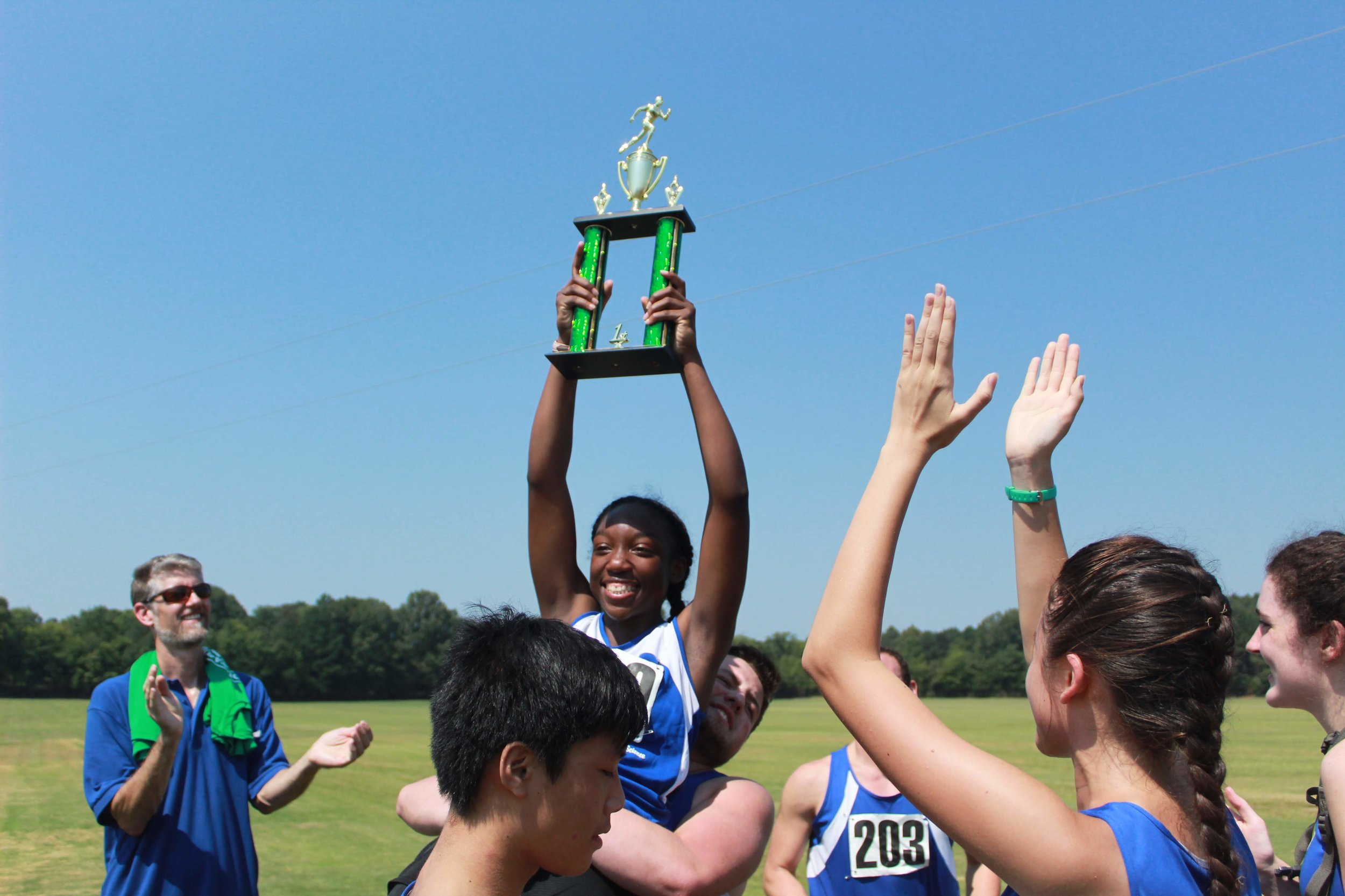 Photos courtesy of MSMS cross country team