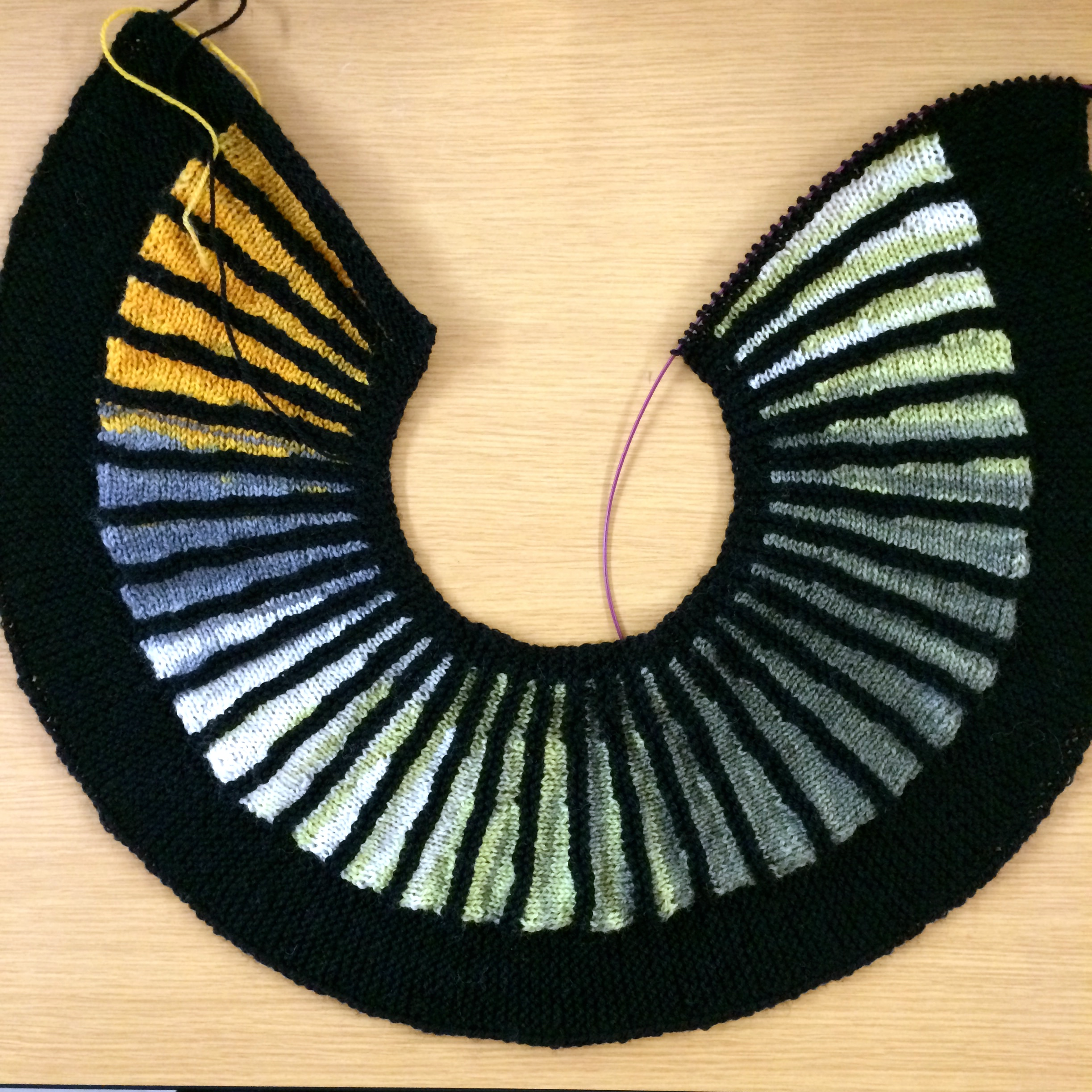 Spectra by Stephen West with Liberty Wool Light yarn