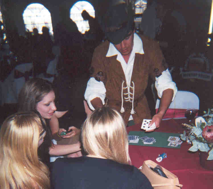 Ben providing entertainment as a Magical Character at a Casino Event.