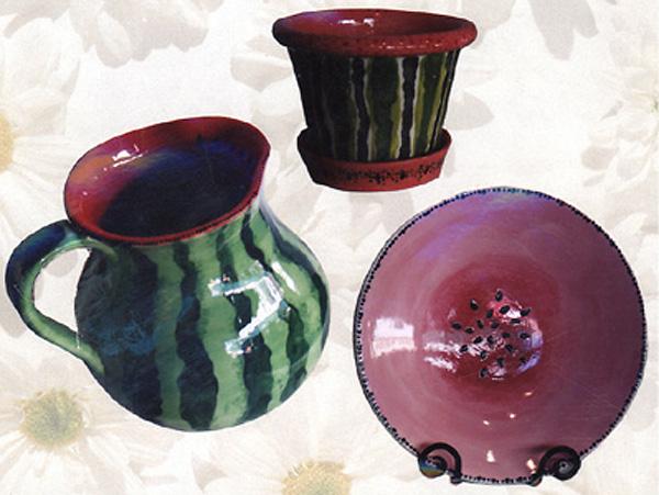Pottery, Watermelon Design
