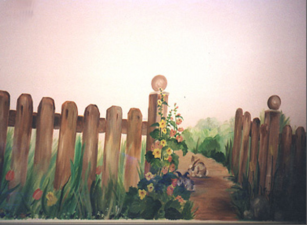 Mural, Gate at the End of the Garden