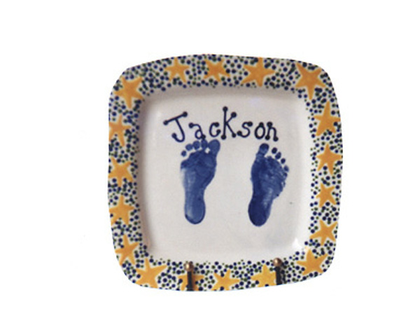 Pottery, Commissioned Baby Plate