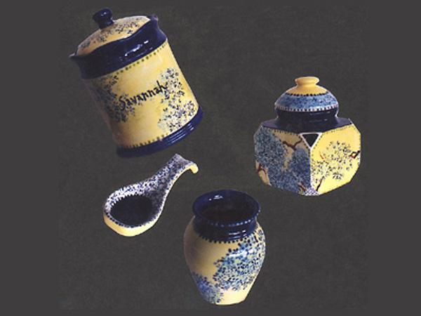Pottery, Cobalt and Yellow Savannah