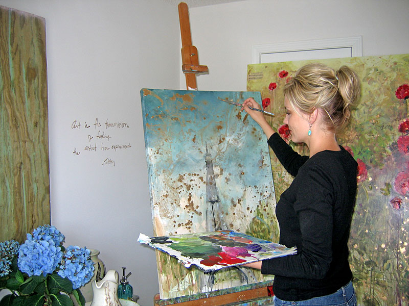 Tiffani in Her Studio