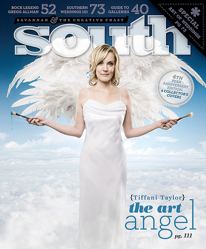 Tiffani on the Cover of South Magazine for her Savannah College of Art and Design Endowned Scholarship