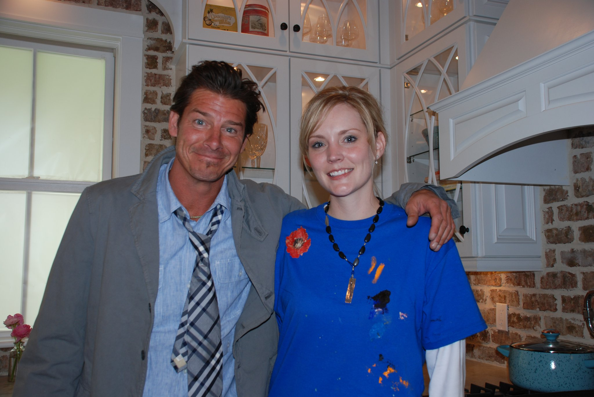 Tiffani with Ty Pennington on Extreme Home Makeover