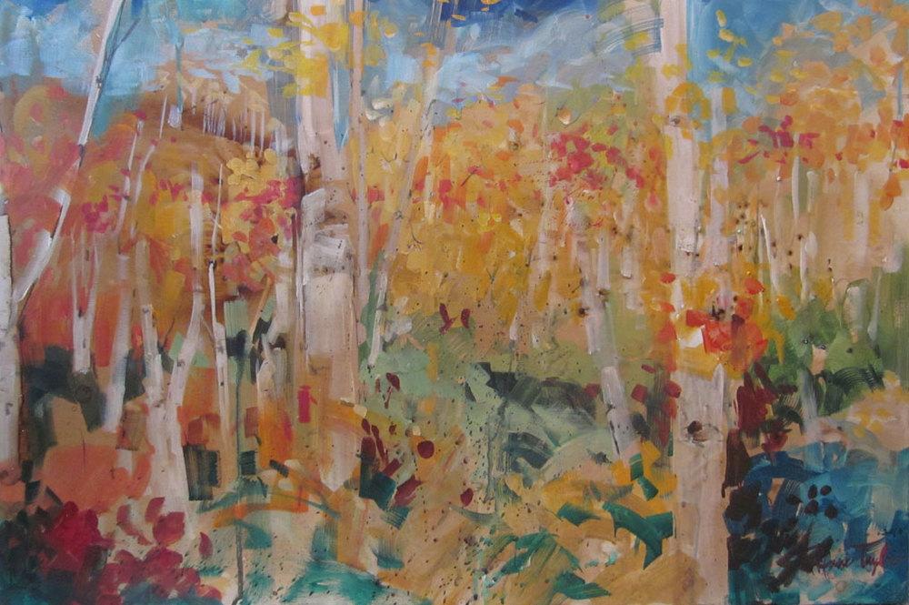 """""""Aspen Trees: Sunlight, Autumn"""""""