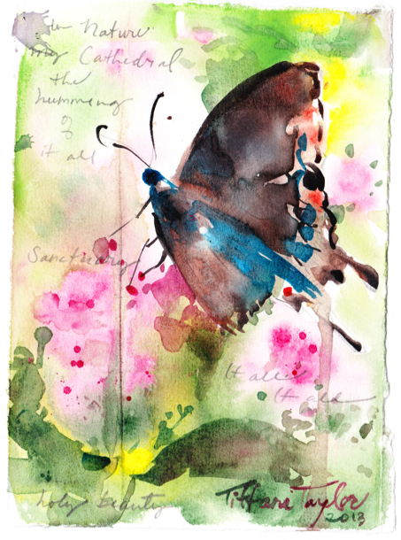 """Butterfly: In nature, my cathedral...the humming of it all... sanctuary...it all... it all... Holy Beauty"""