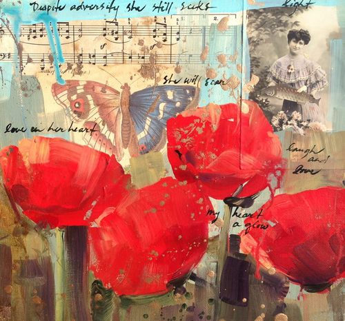 Red Poppies:  Heart aGlow