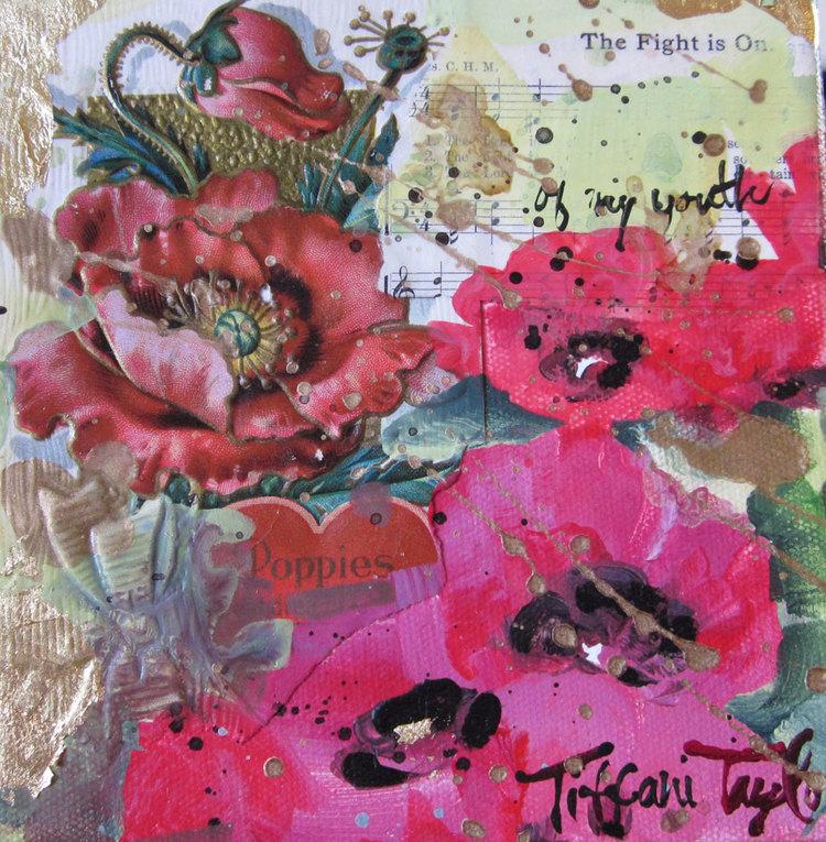 Poppies:  Vintage Postcard