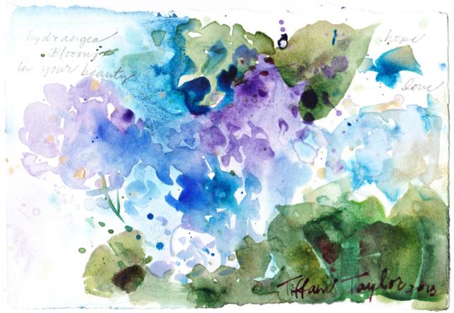 Hydrangea Blooms:  In your beauty, hope, love...
