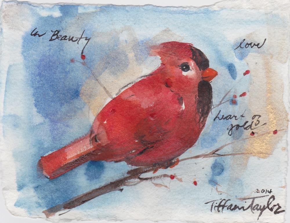 Cardinal:  In Beauty, Love, Heart of Gold...