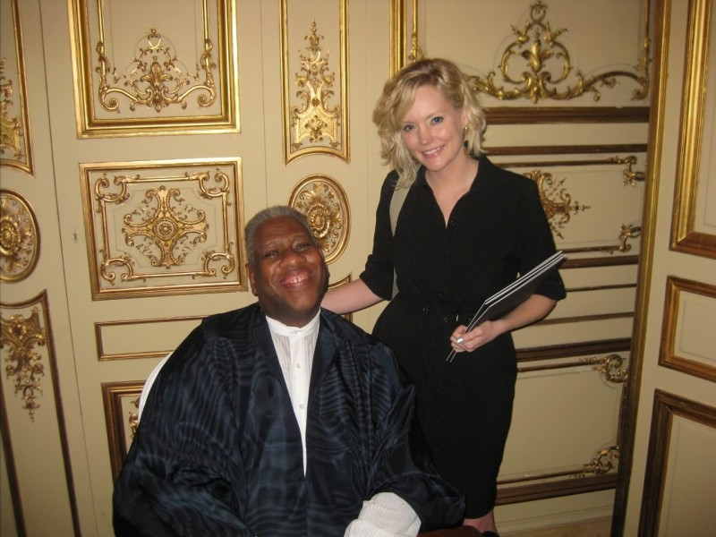 Tiffani with Andre Leon Talley