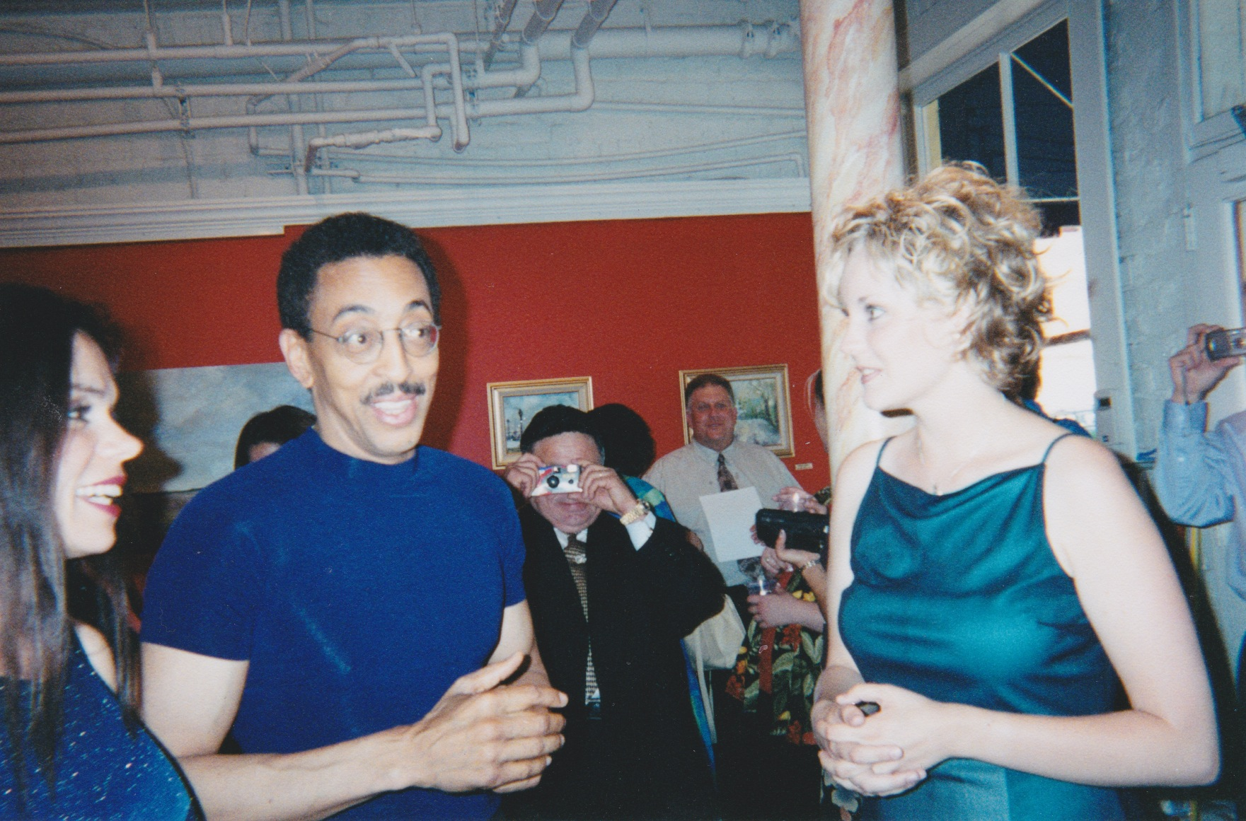 Tiffani with Gregory Hines and at Her Solo Art Exhibition