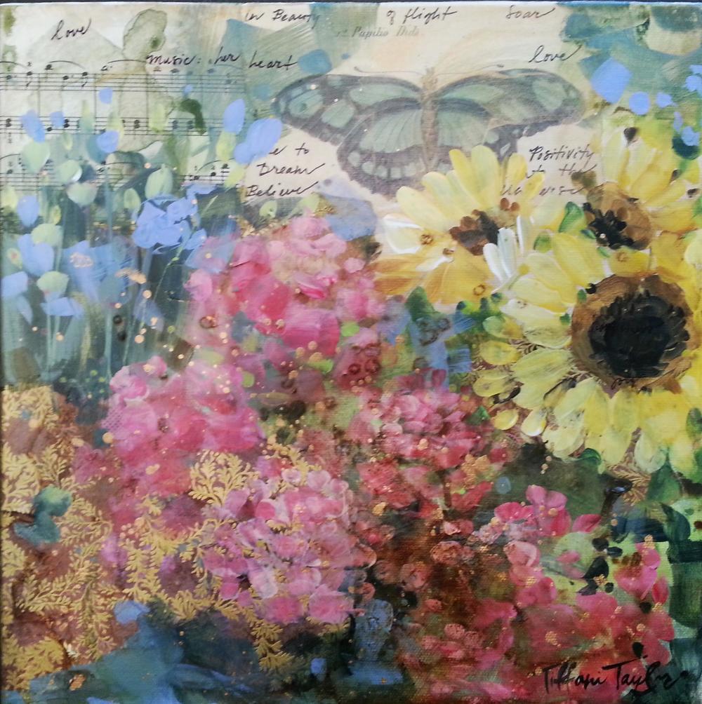 Parisian Flower Market: Love, Music in Her Heart, Butterfly...