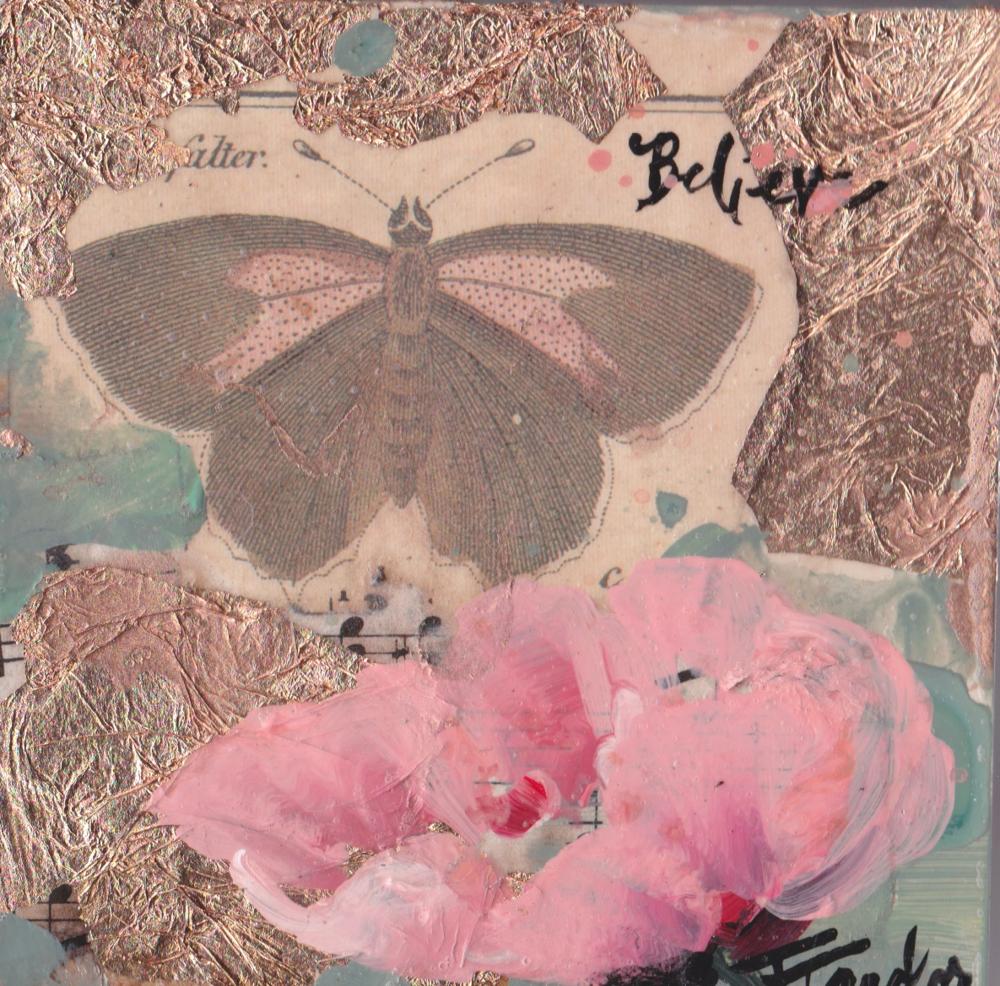 Butterfly:  Believe, Pink  Poppy
