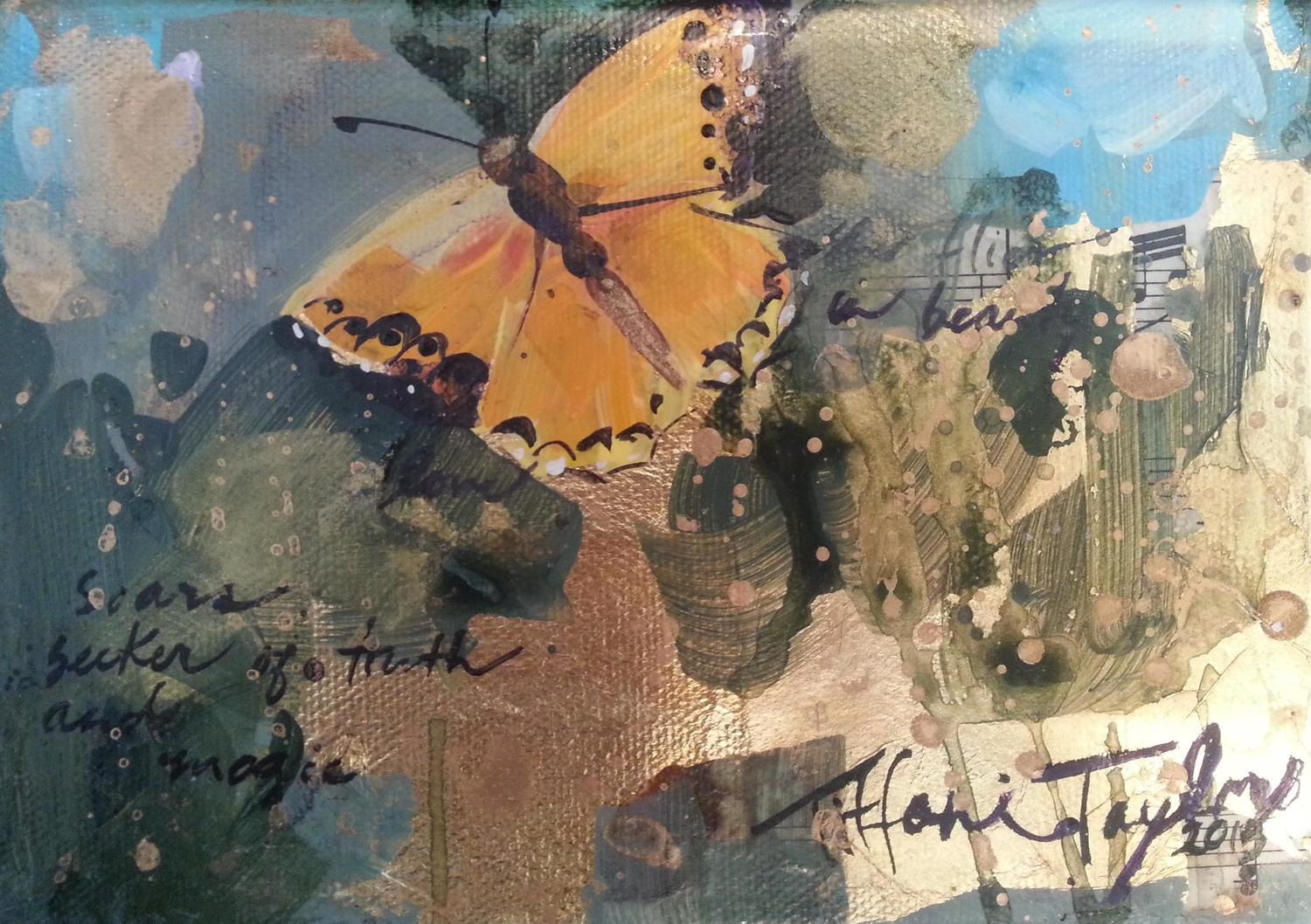Butterfly: In beauty she soars, seeker of truth and magic…