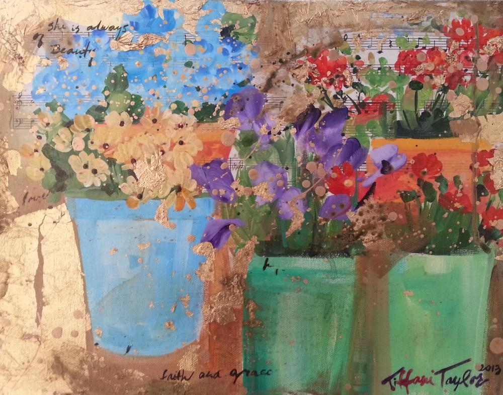 Expressionistic Flower Market: She is Always in Beauty