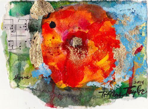 expressionistic hibiscus