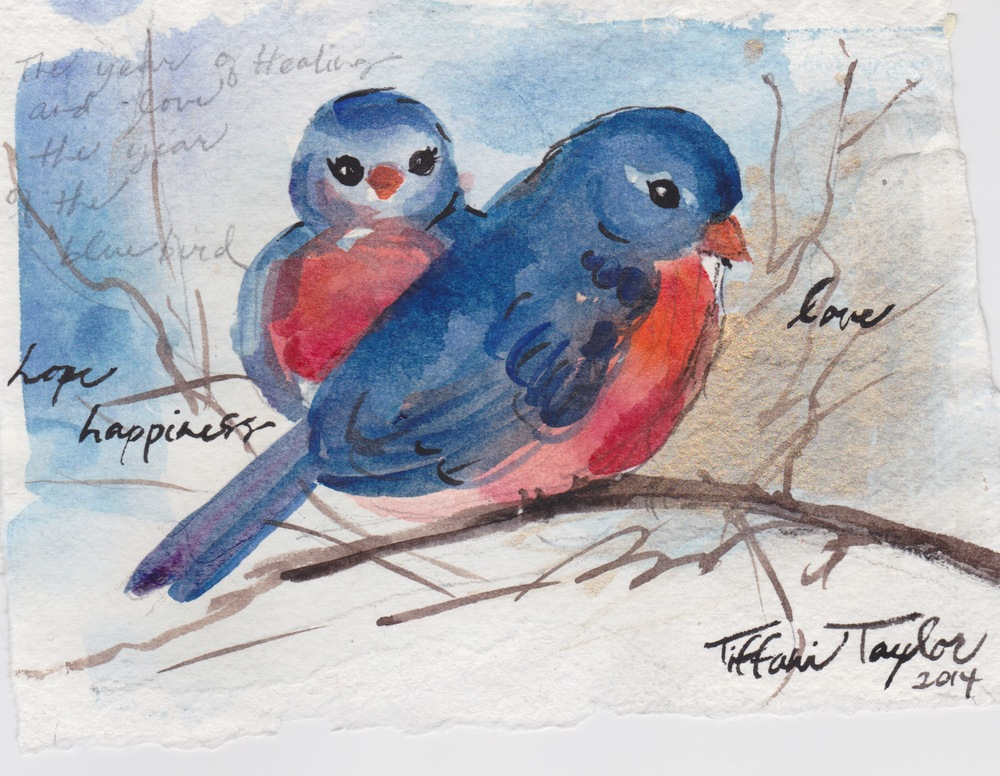 Bluebirds: The Year of Healing and Love...hope, happiness, and love...