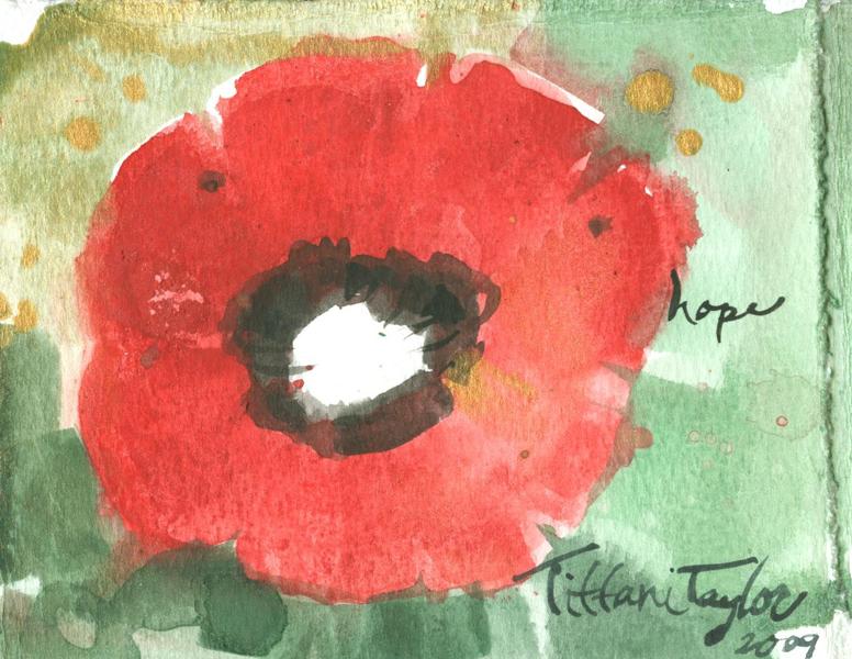 Red Poppy:  Hope