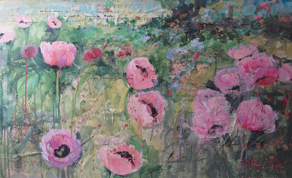 Vintage Pink Poppies