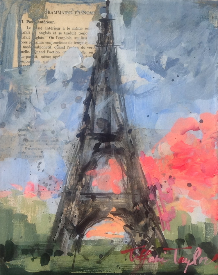 Eiffel Tower:  Sky aflame