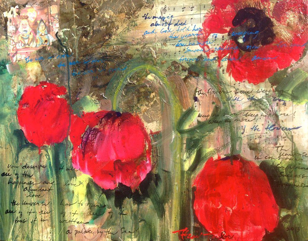 Expressionistic Poppies:  Dance Despite the Rain