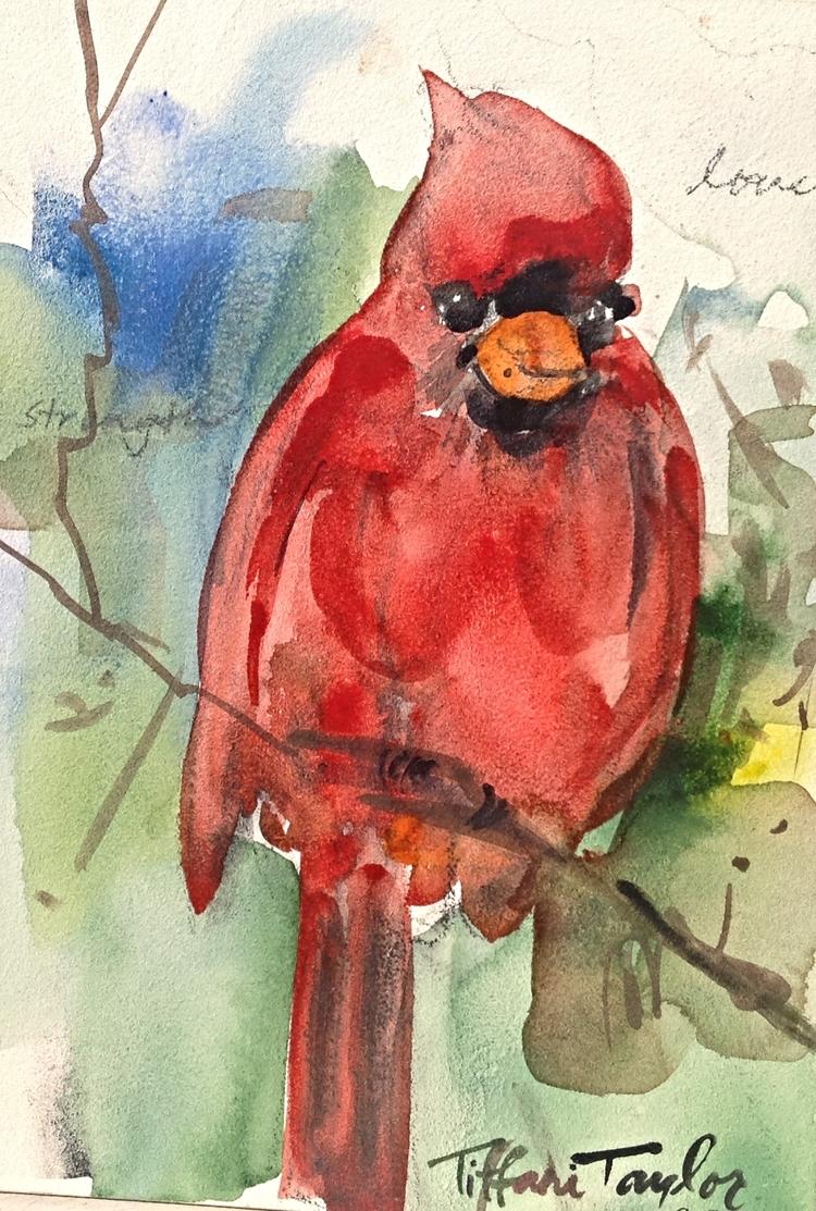 Red Cardinal:  Love, Strength...