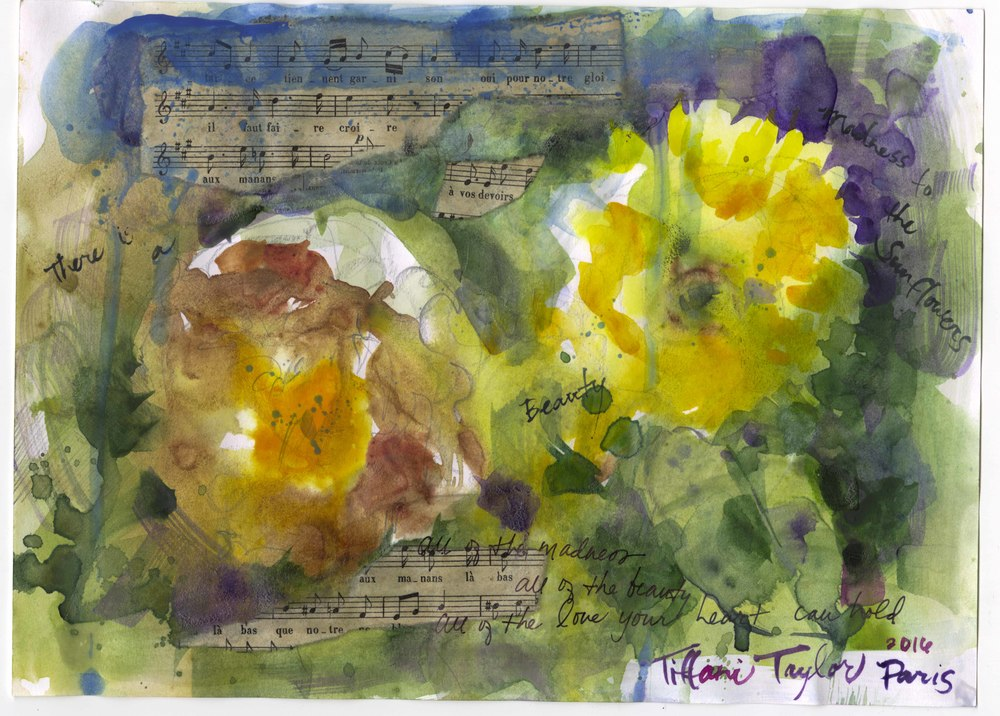 Sunflowers and Music in Giverny