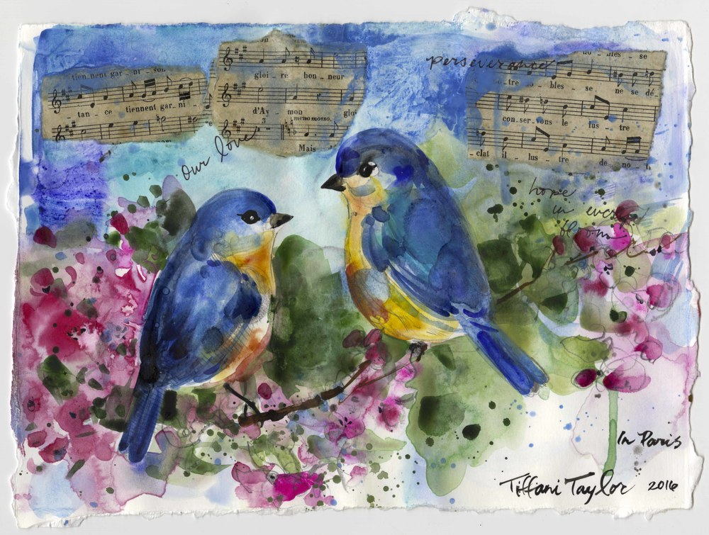 Bluebirds, Music, and Blooms...