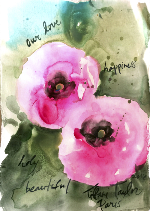 Pink Poppies: our love...happiness