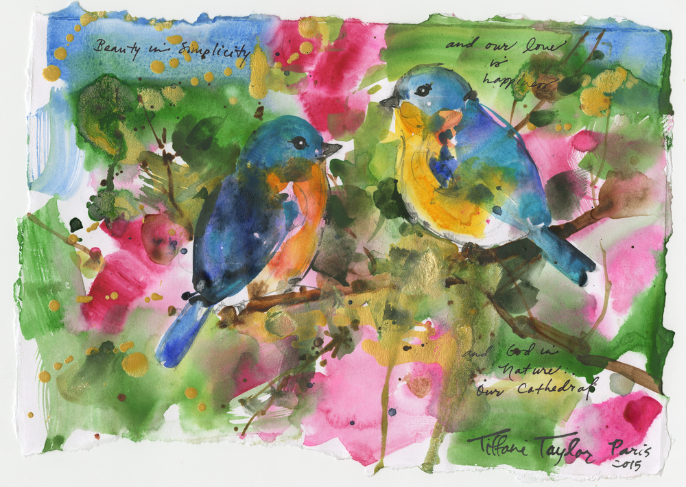 Expressionistic Bluebirds: Happiness...