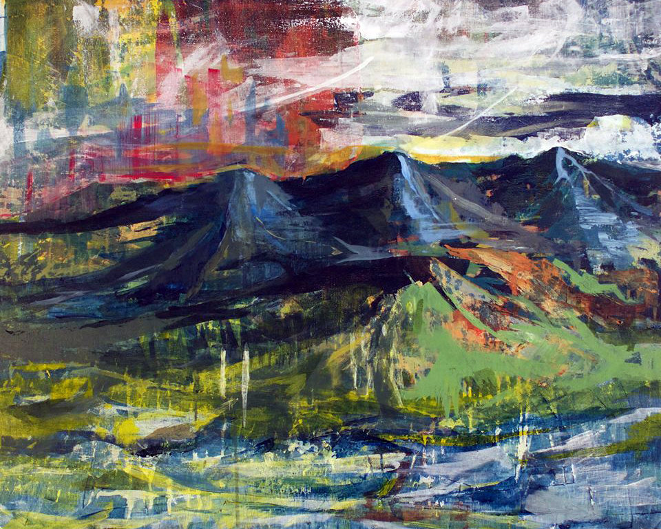 Mindscape#4  Acrylic on Canvas  80 x 100 cm  2015