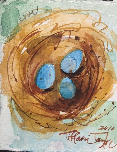 Trio of Eggs Nest: Love