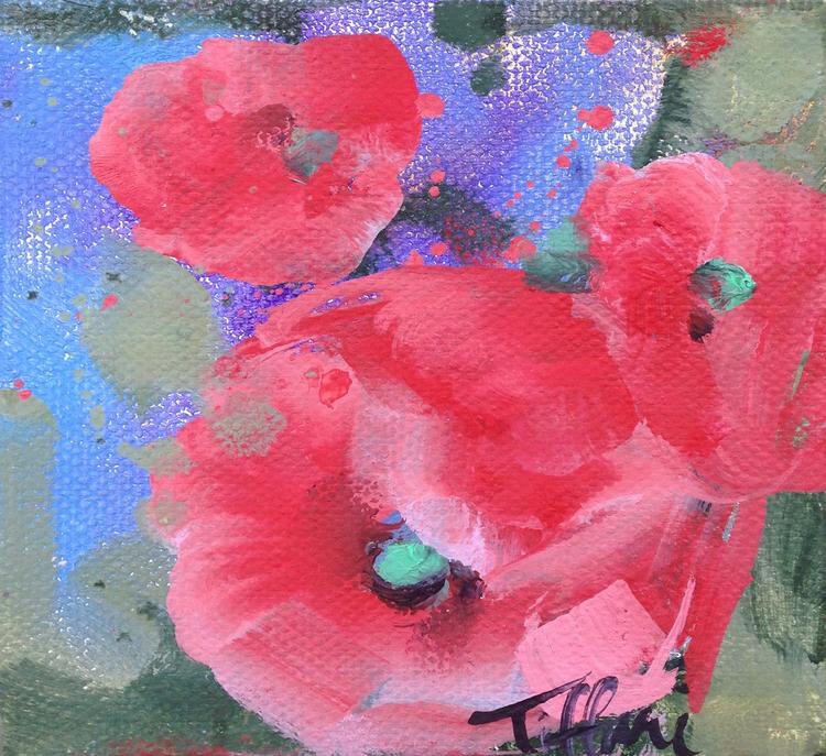 Poppies and Hydrangeas