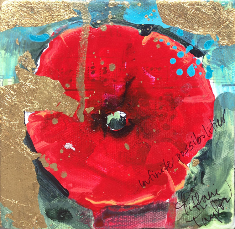 "Poppies: Infinite Possibilities 5"" x 5"""