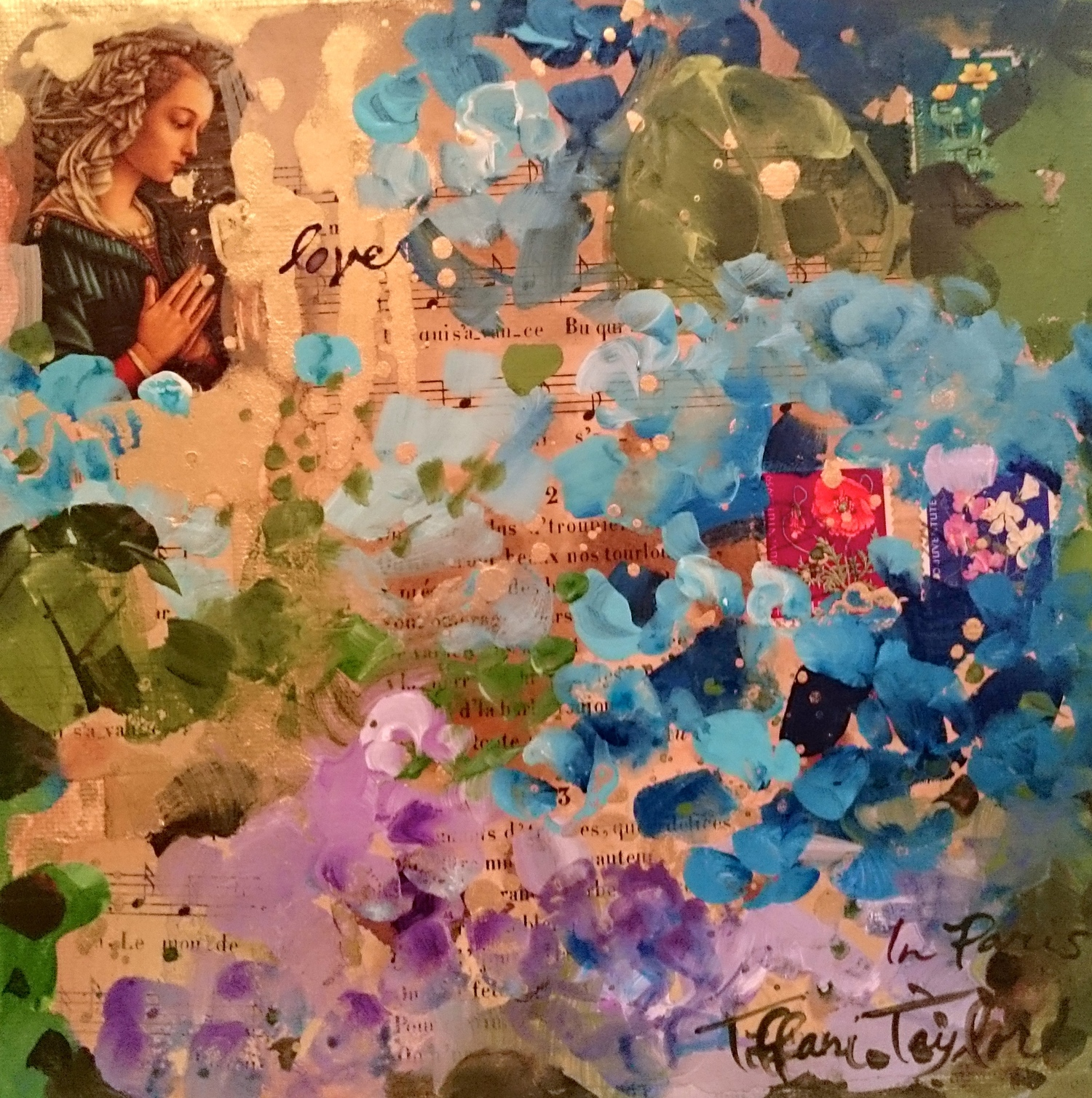 "Hydrangeas: Love, In Paris... 8"" x 8"""