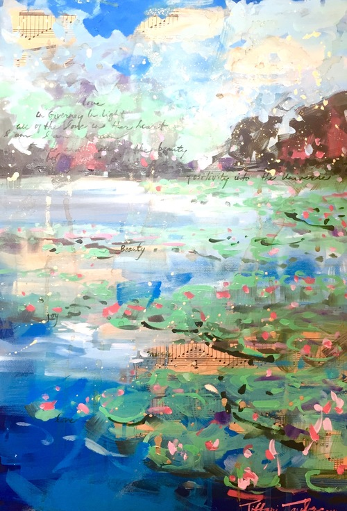 "In Giverny, in Beauty...15"" x 21.5"""