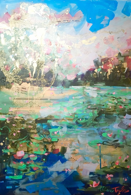 "In Giverny, in Light...15"" x 21.5"""