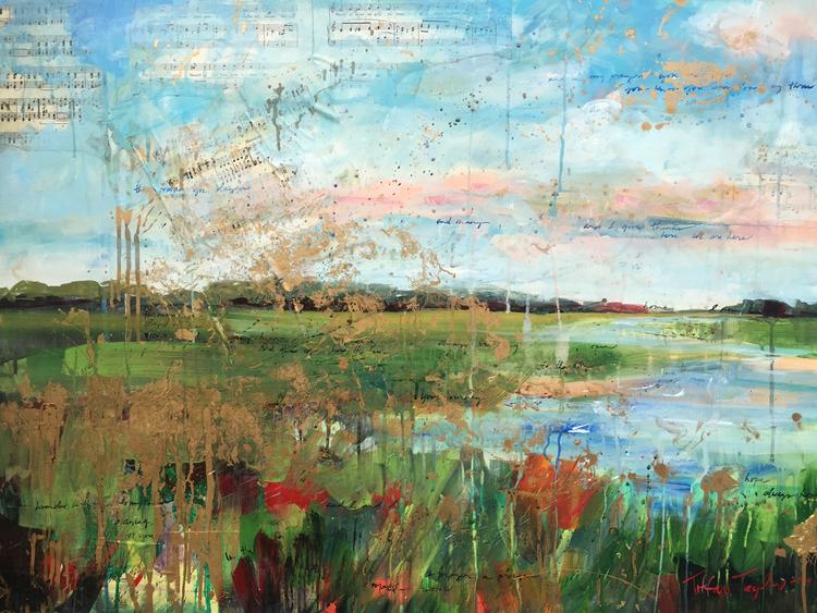 "Expressionistic Marsh II 30"" x 40"""