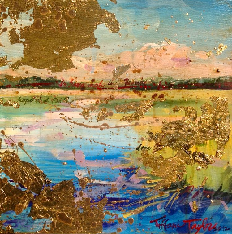 "Expressionistic Marsh: In Savannah, In Beauty... 12"" x 12"""