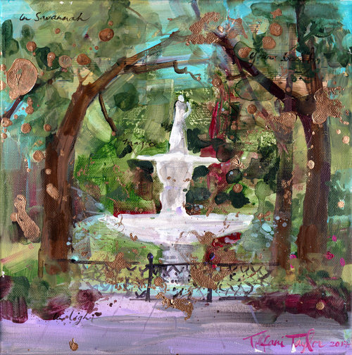 Forsyth Fountain: Savannah, Your Beauty...   12x12