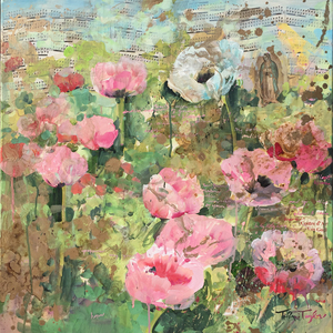 Pink Poppies: A Prayer 24x24