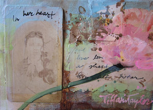 In Her Heart: Pink Bloom... 5x7