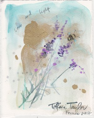 Lavender and Bee: Love and Light... 6x7